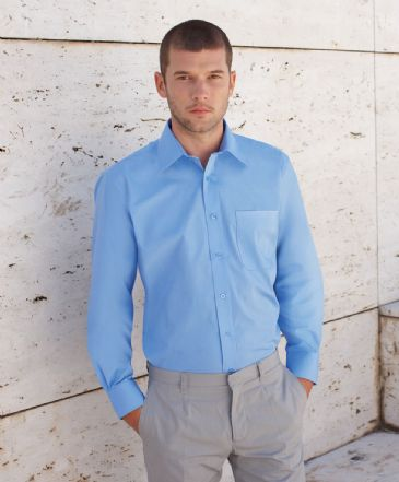 Fruit Of The Loom Long Sleeve Poplin Shirt